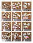 SEW ON GLASS AB DIAMANTE CRYSTALS TEARDROP, RECTANGLE or OVAL SHAPES DRESS BLING