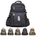 Hand Grenade Army Sport Heavyweight Canvas Backpack Bag