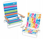 Rio Brands SC590-TS Sand Chair, 5-Position, Wood Arms, As...