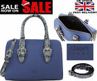 New Womens ARMANI JEANS N Blue Large Patent  Handbag 100% ORIGINAL AJ Bags Brand