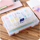 10/15/24 slots compartment organizer plastic storage adjustable box container HF
