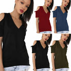 Women Lady Summer Off Shoulder Short Sleeve Casual T-Shirt Tops Loose Blouse 61l