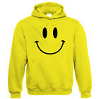 Smiley Face, Mens Retro Acid Rave House DJ Hoodie