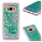 Cool Glitter Liquid Water Stars Quicksand Soft Gel Case Cover For Lots of Phones