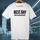 funny gym tshirt rest day workout swag gift saying mma training mens new black