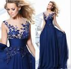womens Long Wedding formal bride Applique party Dress Evening Cocktail Prom Gown