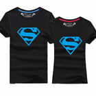 outdoor sports team travel t-shirt student couples Lover clothes Superman blue