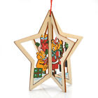 Products Carved wood Pentagram bells pendant Window pendant Christmas ornament