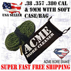 Boresnake 9mm Pistol .38 .357 .380 ACME Gun Cleaning Bore Snake with case option