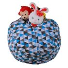Kid Stuffed Animal Toy Cotton Bean Bag Storage Pouch Soft Stripe Fabric Chairs