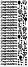 Congratulations Peel Off Stickers Gold Silver L Plate Hearts Exams Tests Cap 7mm