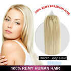 16~26inch Micro Ring Easy Loop 100% Remy Human Hair Extensions 0.5/1gram