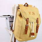 Personalised Vintage Canvas Rucksack, Add Your Name Or Initials