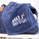 Born To Fight Boxing Sports Gym Towel, 100% Cotton, Fitness, Exercise, Keep Fit