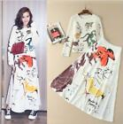 Women Sets 2018 Sprint New Sweater+Skirt Suits Two-Pieces Fashion Occident Print