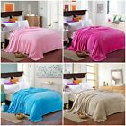 Pure Throw Blanket Soft Warm Multiple Size Rug Plush Flannel Fleece Bed Sofa New