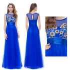 Ever-Pretty Long Formal Evening Dress Floral Bridesmaid Wedding Prom Gown 08899