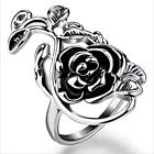 Delicate New Style Stainless Steel Open Rose Flower And Vine Ring Size 8-11 Gift