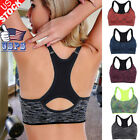 US Women Yoga Sports Bra Fitness Stretch Workout Seamless Pa