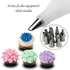 14x Nozzle + Silicone Icing Piping Cream Pastry Bag Set Cake Decorating Tool R K