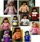 "Внешний вид - 18"" DOLL clothes hand knitting pattern sweater dress coat hat for AG or similar"
