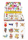 Children's Temporary Pirate Tattoos Boys Girls Kids Party Bag Fillers Toy UK SLR