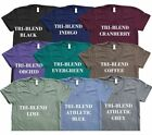 Внешний вид - American Apparel Tri Blend T-Shirt Vintage Style Track Tee Shirt 9 Colors TR401