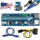 LOT USB3.0 PCI-E Express 1to16x Extender Riser  Adapter SATA 6Pin Power Cable KP