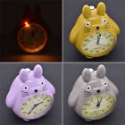 Totoro Table Battery Evening Clock Modern Timer Clock with LED Light for Bedroom