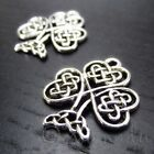 Celtic Knot Shamrock 23mm Silver Plated Clover Charms C0867 - 10, 20 Or 50PCs