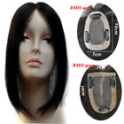 "2.7''x3.9"" Base Human Hair Topper Hairpiece Silk Top Women Toupee With Clips 12'"