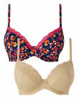 Shapely Figures Pack Of 2 Underwired Plunge Bras
