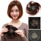 "New 6inch Round Base 3.9''x3.9"" Women Human Hair Topper Hairpiece Hair Toupee"