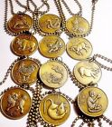 """Pick One!  CHINESE ZODIAC  Astrology Symbol """"Year of The"""" Animal Bronze Necklace"""