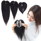 "Fashion Base 2.7''x3.9"" /  2''x3"" Womens Human Hair Topper Hairpiece Toupee"