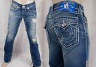 True Religion Jeans Ricky Super T straight Old Country Blue bartacks M24859U55