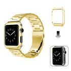 Apple Watch Series 3/2/1 Stainless Steel Wrist iWatch Band 38/42mm + Case Cover