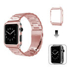 Apple Watch Series 3/2/1 Stainless Steel Wrist iWatch Band 38/42mm + Case CoverWristwatch Bands - 98624