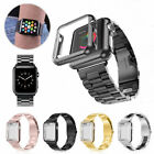 Apple Watch Series 3/2/1 Stainless Steel Wrist iWatch Band 38/42mm Case Cover image