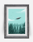 The X Files UFO Print, I want to believe Poster