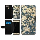 Harlequin Anthology Granite Stone Flip Phone Cover Wallet Case Faux Leather