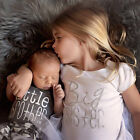 Matching Outfit Big Sister Tee T-shirt Baby Boy Romper Jumpsuit Playsuit Costume