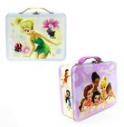 DISNEY FAIRIES TINKERBELL Tin Metal Cards Toys Snack Lunch Box Keepsake Box Bag