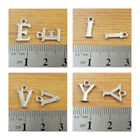 10mm SILVER PLATED LETTER CHARMS JEWELLERY MAKING BRACELET NECKLACE Pack of *10*