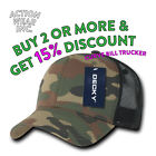 DECKY 1054 MENS SNAP BACK TRUCKER HAT ACTIVE PRE-CURVED BILL HATS CAPS MESH CAP