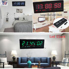 4Colors LED Digital Calendar Temperature Large Big Jumbo Home Wall Desk Clock US