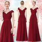 Ever-Pretty Long Formal Prom Gowns V-neck Bridesmaid Wedding Party Dress 08633