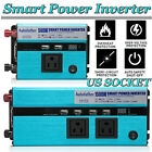 US Portable Car Power Inverter DC 12V to AC 110V Charger Converter 500W / 1500W