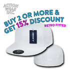 DECKY RP1 MENS PLAIN FITTED HAT CASUAL RETRO FLAT BILL HATS BASEBALL CAP CAPS
