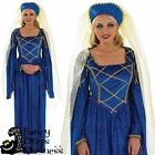 Womens Tudor Lady Fancy Dress Costume | Ladies Medieval Princess Size UK 8-26